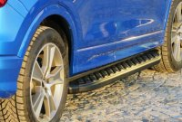 Running Boards suitable for Audi Q2 from 2016 Hitit black...