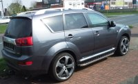 Running Boards suitable for Peugeot 4007 2007-2012 Hitit...
