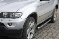 Running Boards suitable for BMW X5 1999-2006 Hitit chrome...