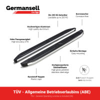 Running Boards suitable for Chevrolet Captiva from 2006-2015 Ares chrome with TÜV
