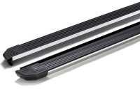 Running Boards suitable for Ford Courier from 2014 Truva with TÜV black with TÜV