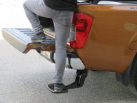 Footboard to unfold Nissan Navara NP300 from year of construction 2016 Color Black