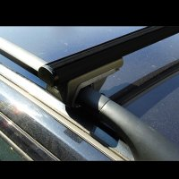 Roof racks Freelander 2 from year of construction 2004-2010 made of aluminum in black 120cm