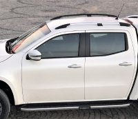 Roof Rails & Roof Racks suitable for Mitsubishi L200 Double Cab from 2015 aluminum high gloss polished