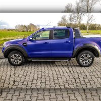 Fender flares suitable for Ford Ranger with sensors outside screw optics from year of construction 2019 with Tüv ABE