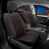 Seat covers for Ford Ranger from 2006 in black red Set Tokio